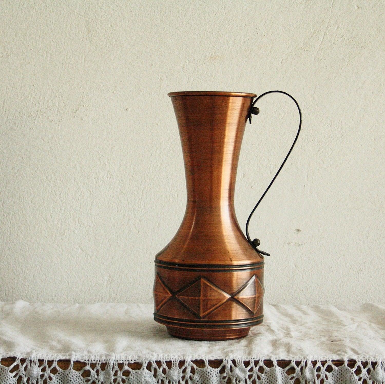 Vintage Copper Pitcher Copper Home Decor Copper by