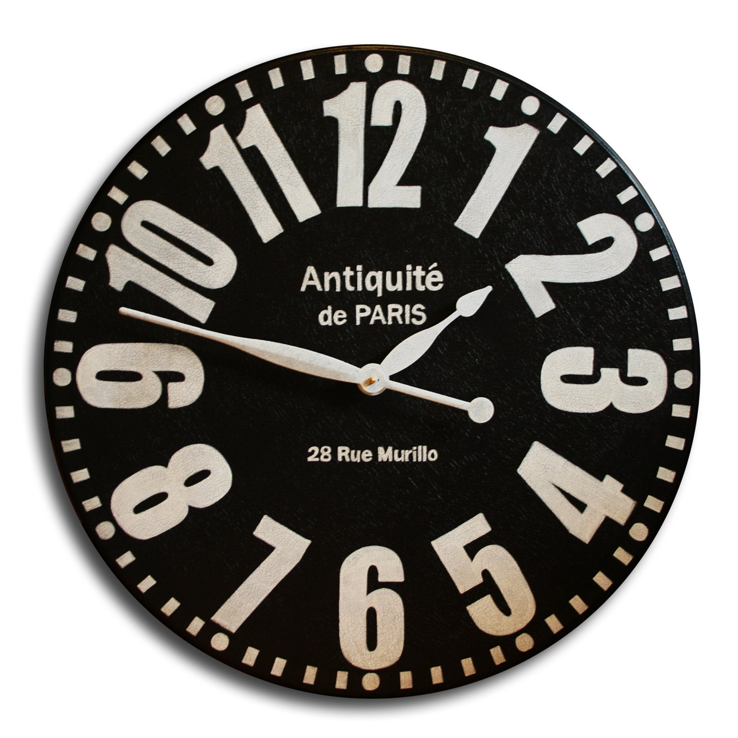 Large Wall Clock 18in Antique Style Big Round By Theclockhouse