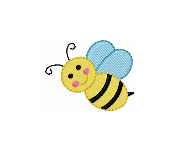 Instant download bee mini filled stitches by joyousembroidery