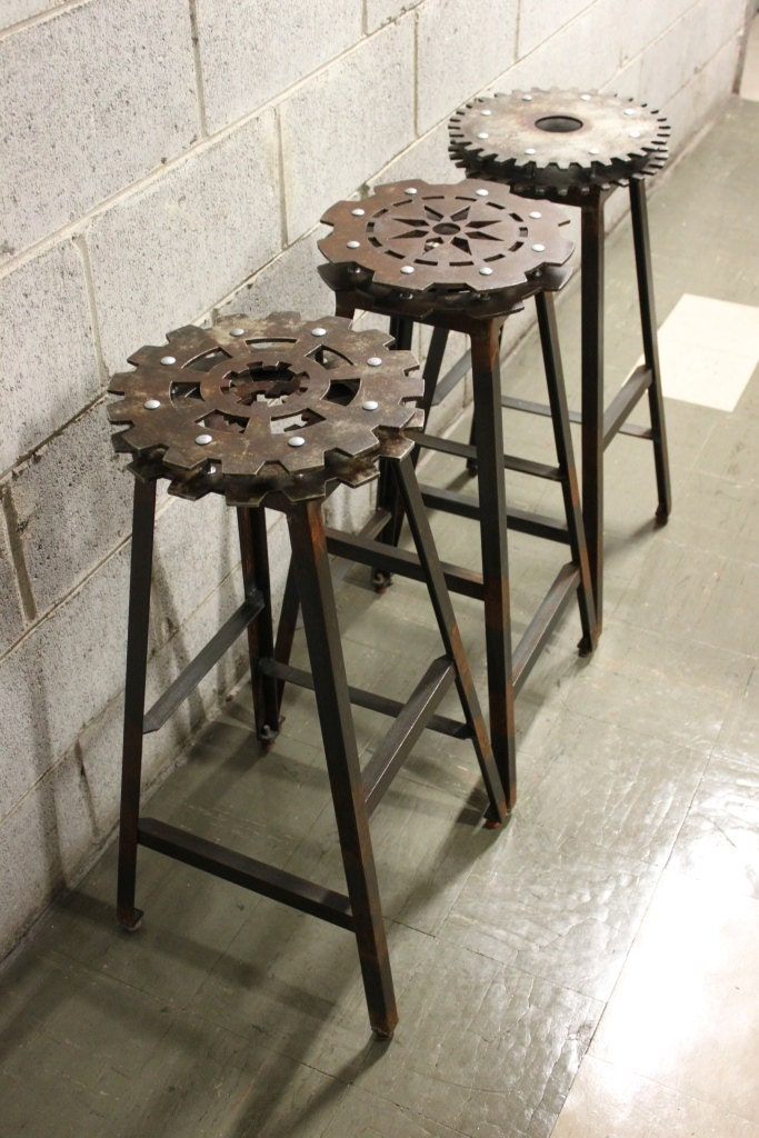Items similar to Set of 3 Industrial Bar Stools on Etsy : il570xN462812637mlnw from www.etsy.com size 570 x 855 jpeg 122kB