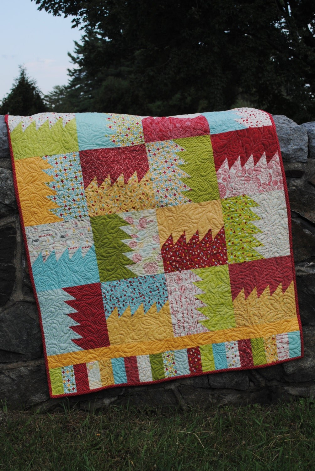 PDF Baby Quilt Pattern.....Patchwork Quilt Pattern by sweetjane