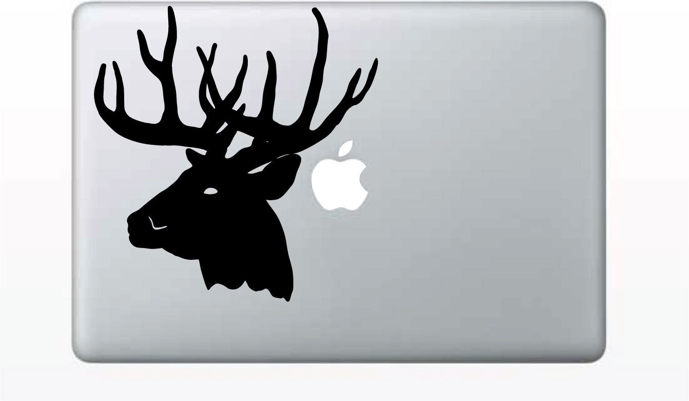 Evil Deer Macbook Computer Decal / Sticker