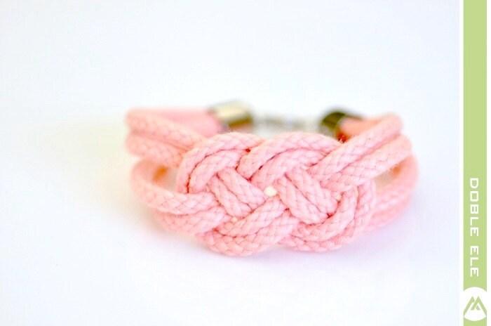 Sailor Knot Bracelet - Peachy Pink - DobleEle