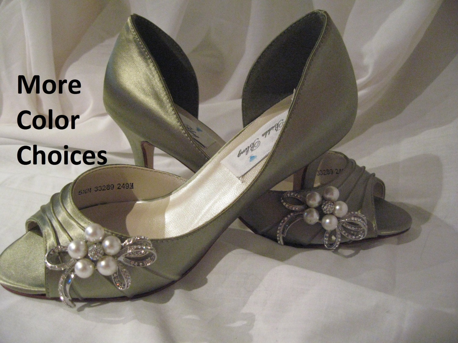 Wedding Shoes Sage Green Bridal Shoes Pearl And By ABiddaBling