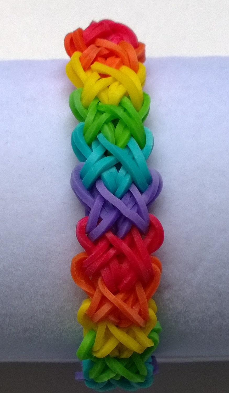 rainbow loom band doublex double x design by ashleysbands