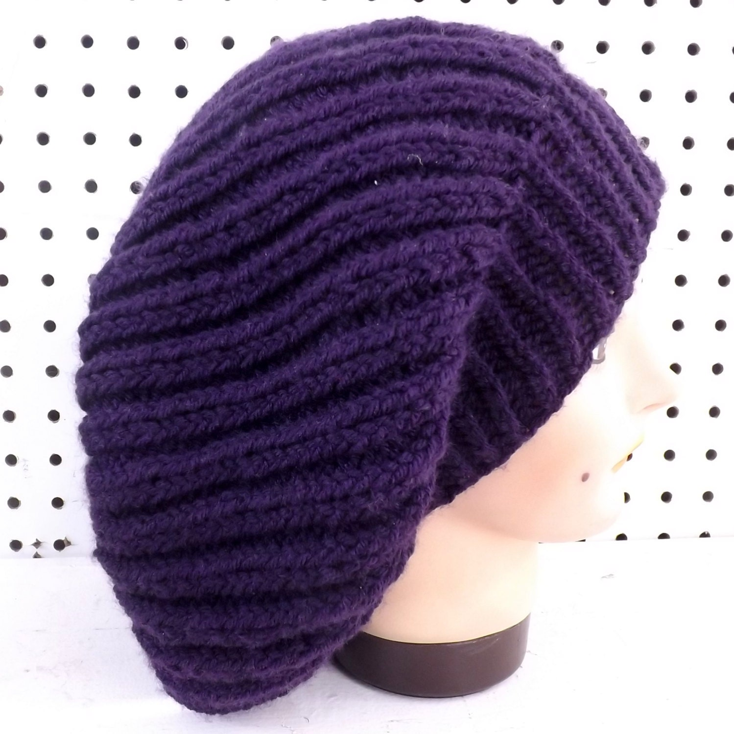 MARY Knit Ribbed Hat Pattern - Knit Beanie Hat Pattern - Knit Beanie Pattern ...