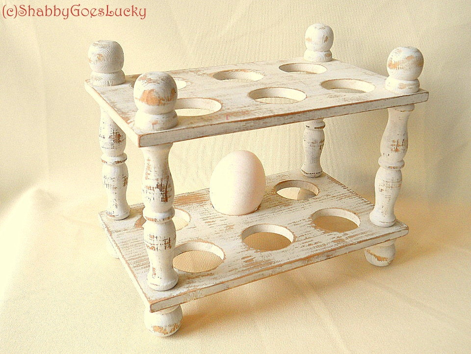 Vintage wooden 2 storey egg tray egg holder egg by for Egg tray wall hanging