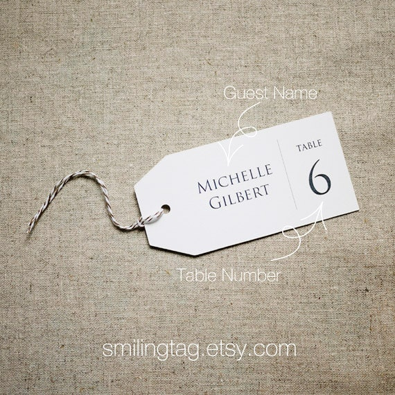 Wedding Escort Cards Place Cards Shower Tags By Smilingtag
