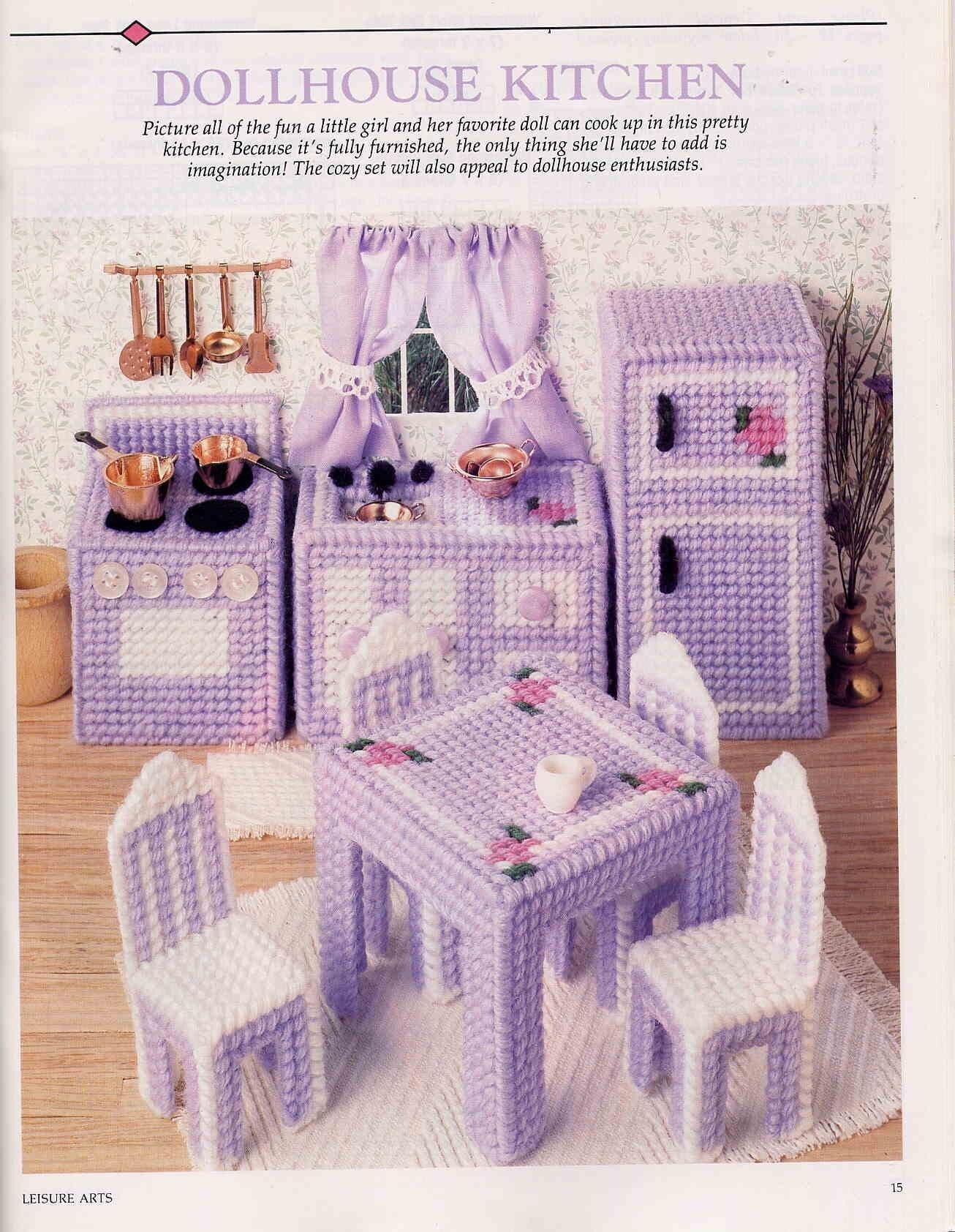 Plastic Canvas Doll Furniture Pattern Car Interior Design
