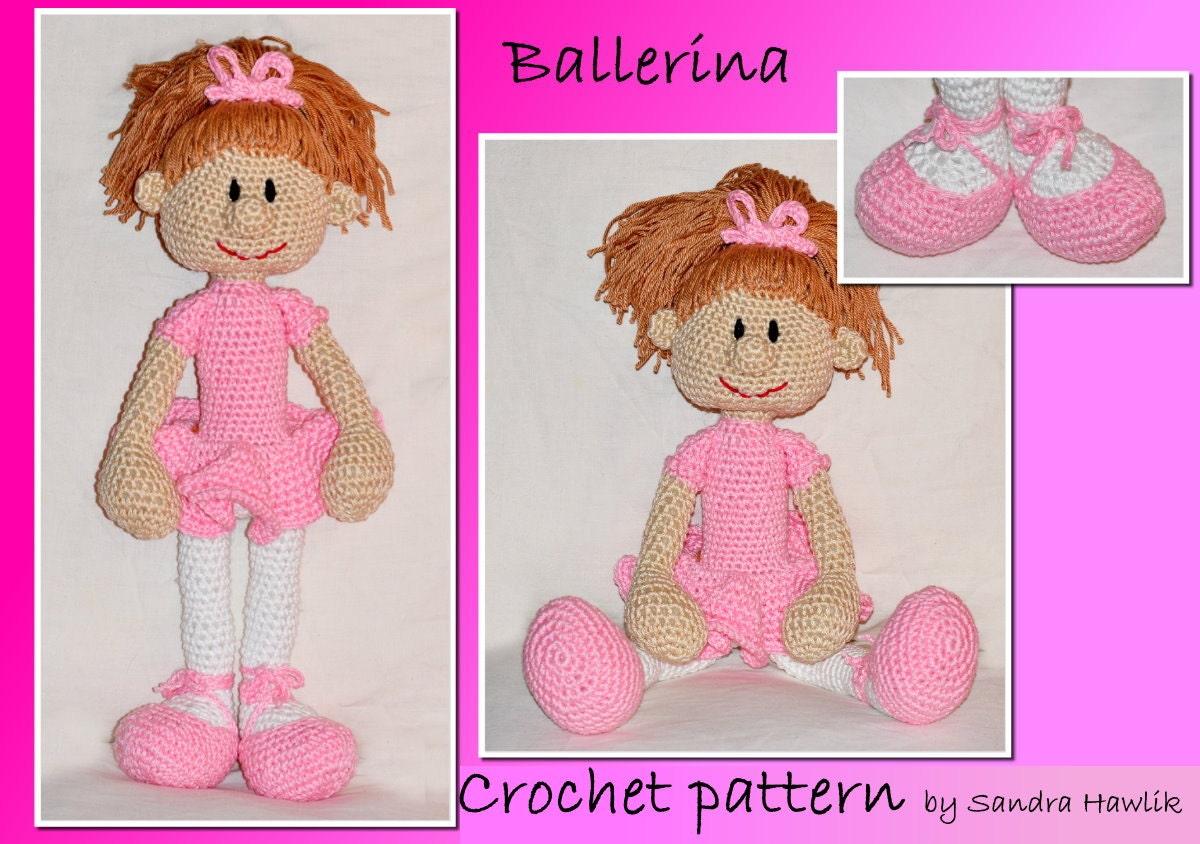 Amigurumi Ballerina Pattern : crochet pattern amigurumi doll ballerina by MOTLEYCROCHETCREW