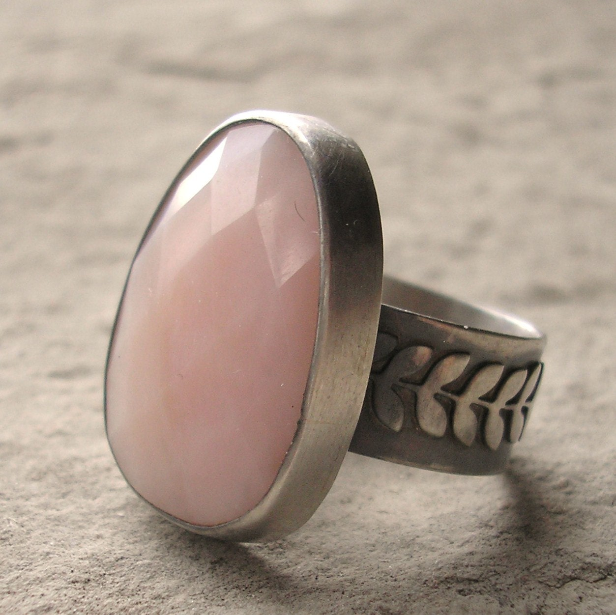 Opal Ring Pink Opal Ring Peruvian Opal Ring Pink by lsueszabo