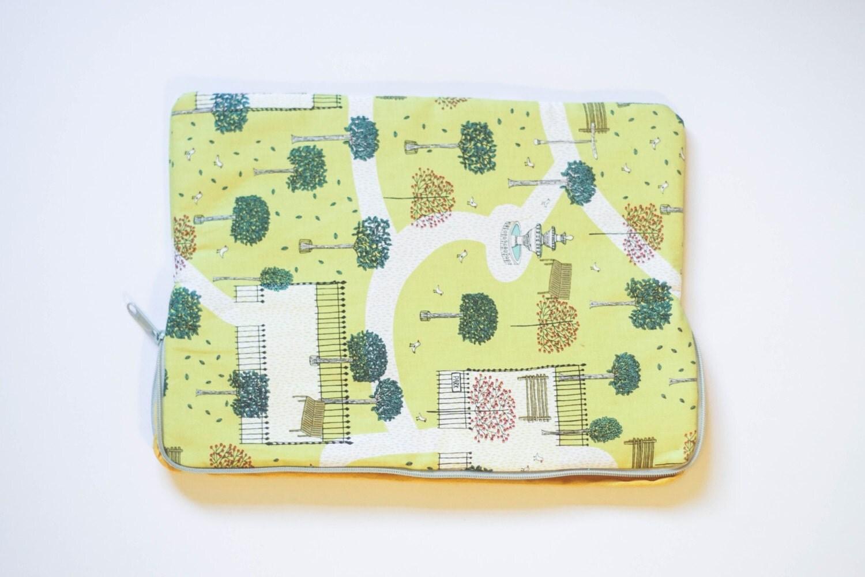 Park  Cotton Print  MacBook Pro Sleeve  Laptop Sleeve  Laptop Case  Laptop Bag