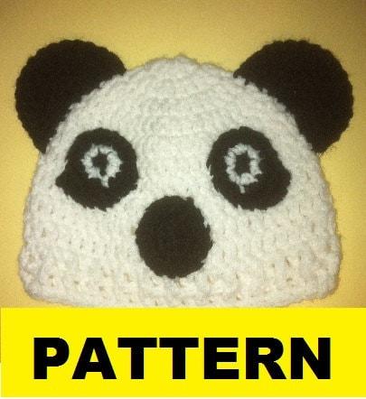 Crochet Pattern / PANDA BEAR Baby hat by CROCHETBYMELISSA ...