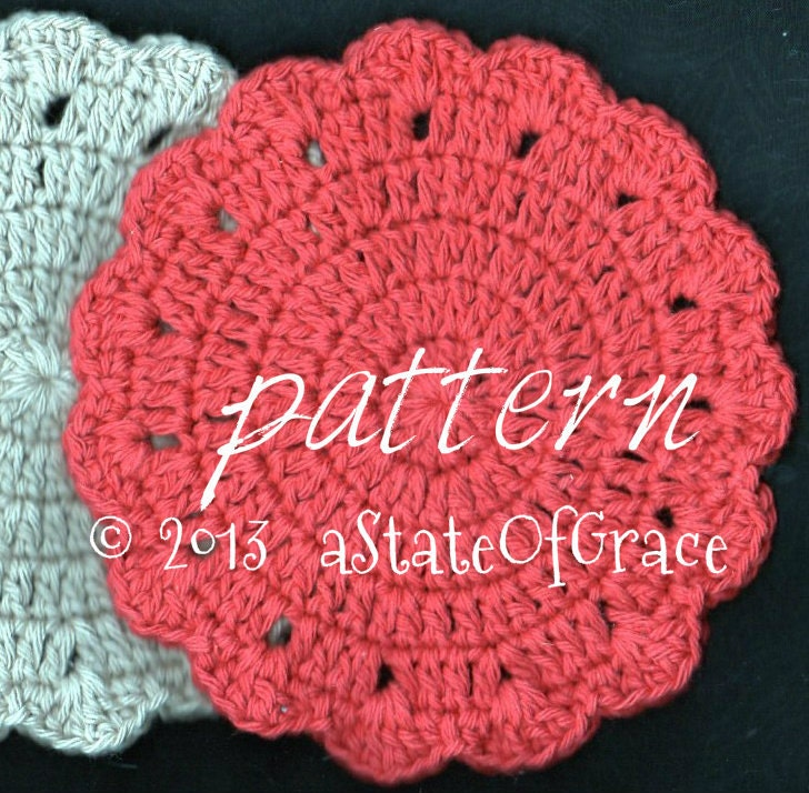 PATTERN Round Dishcloth pattern number 3 by aStateOfGrace