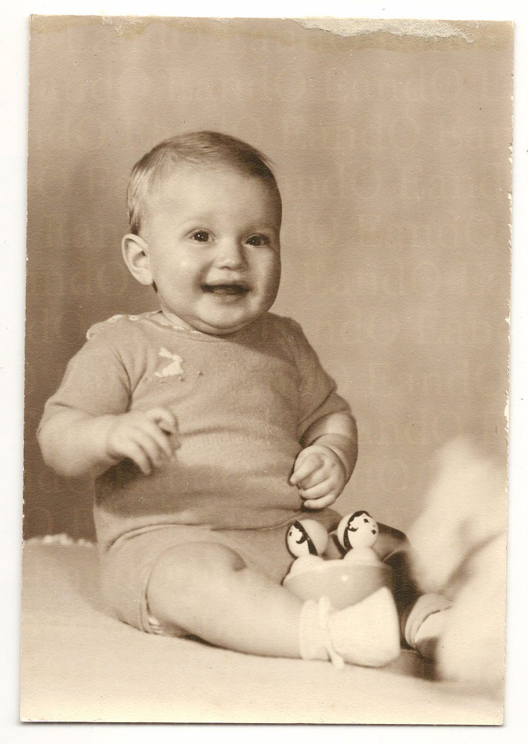 Items Similar To Vintage Antique Studio Portrait Adorable