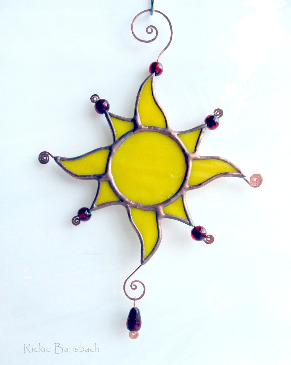 Sun Drops golden yellow sunshine beaded 1A8 - RickieBansbach