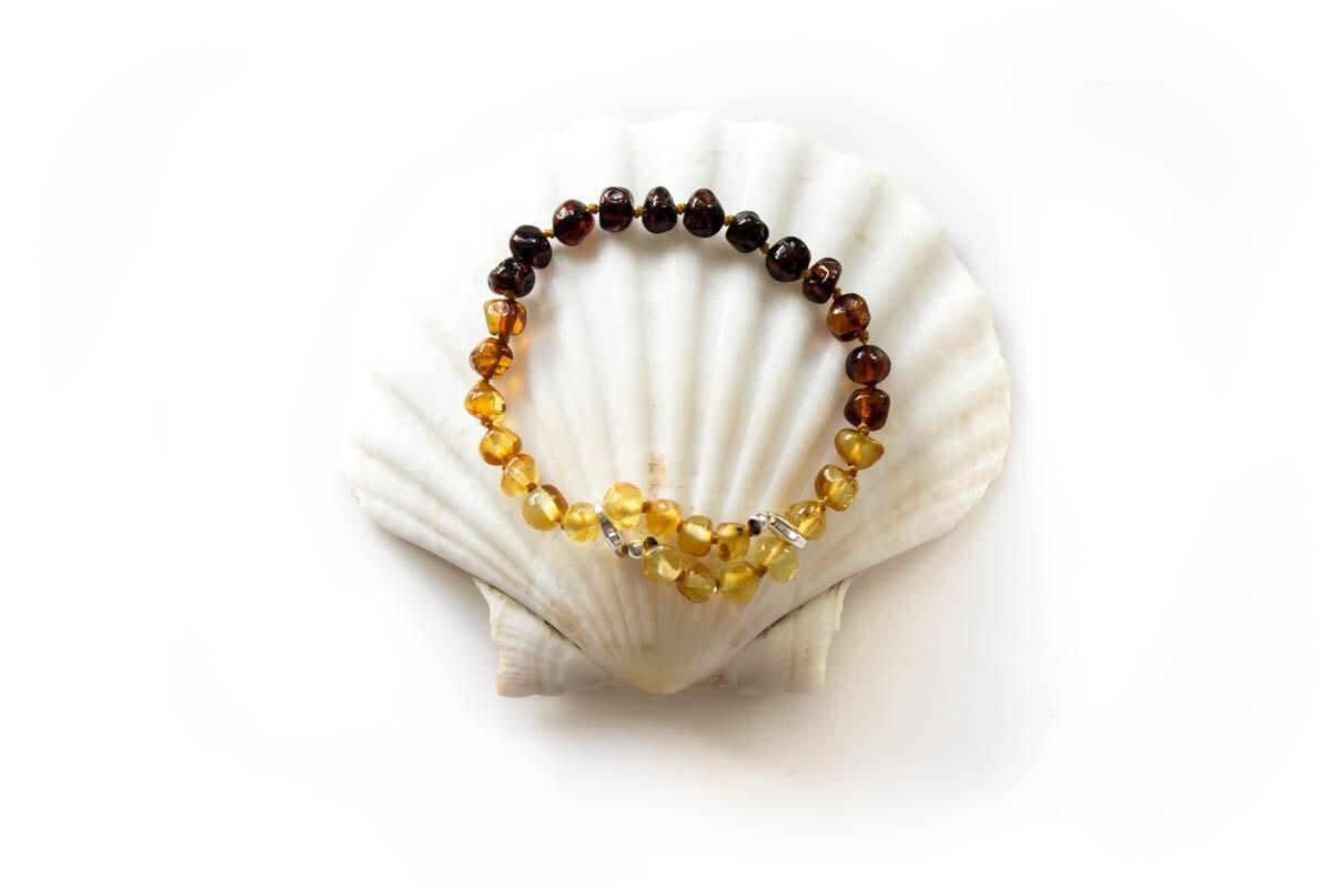 Baltic Amber Bracelet Adults  Sunset Adjustable Size Natural Polished Amber Sterling Silver Boho Jewellery  AB1047