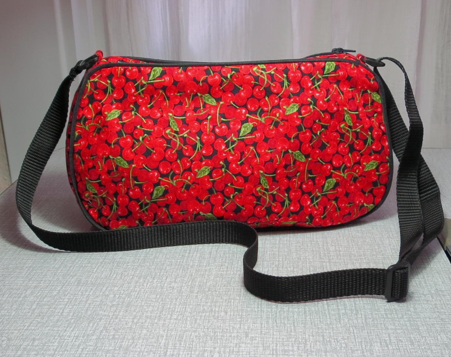 small cherry purse cherries handbag clutch bag with adjustable strap  UK seller