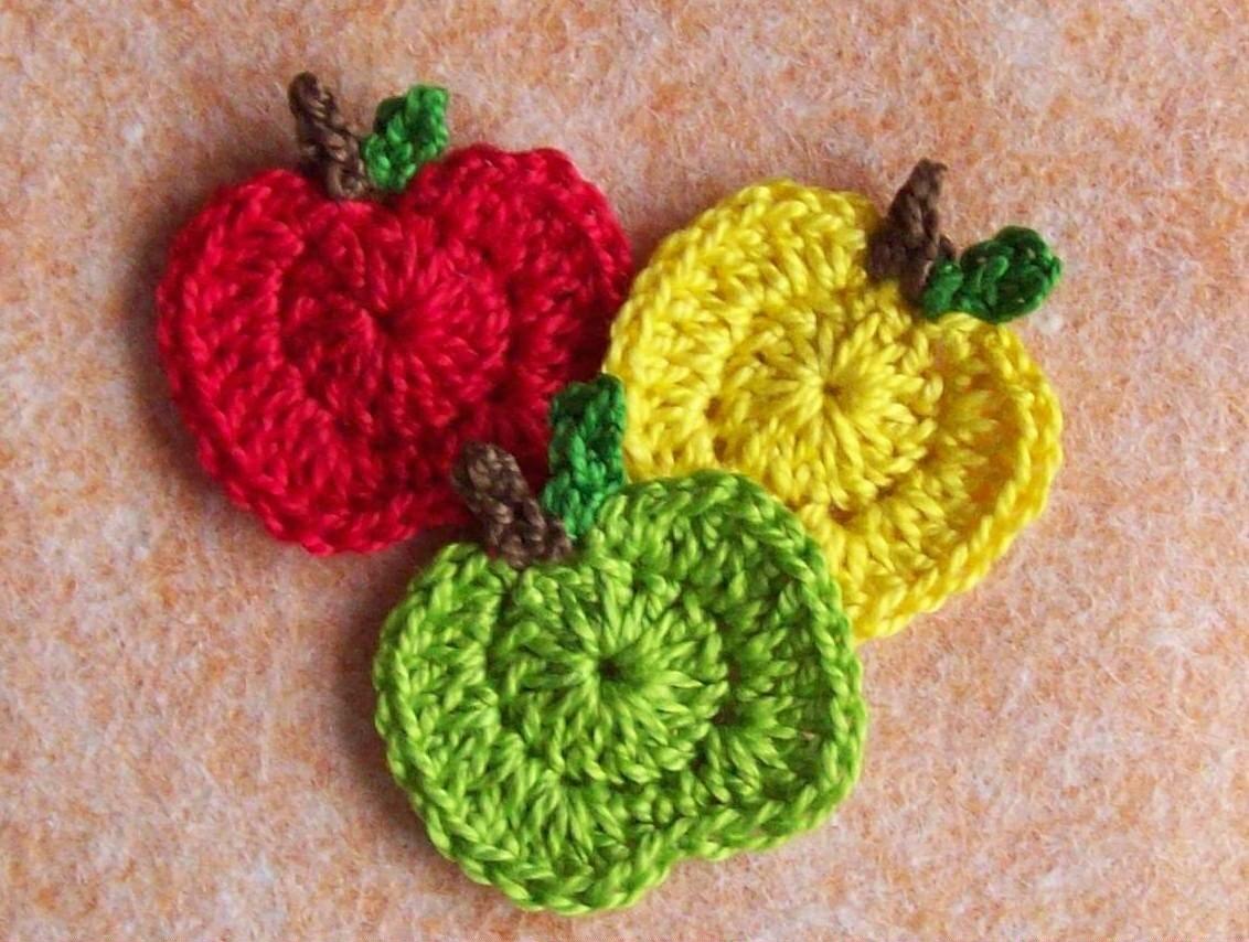 Вязание крючком яблочки 53
