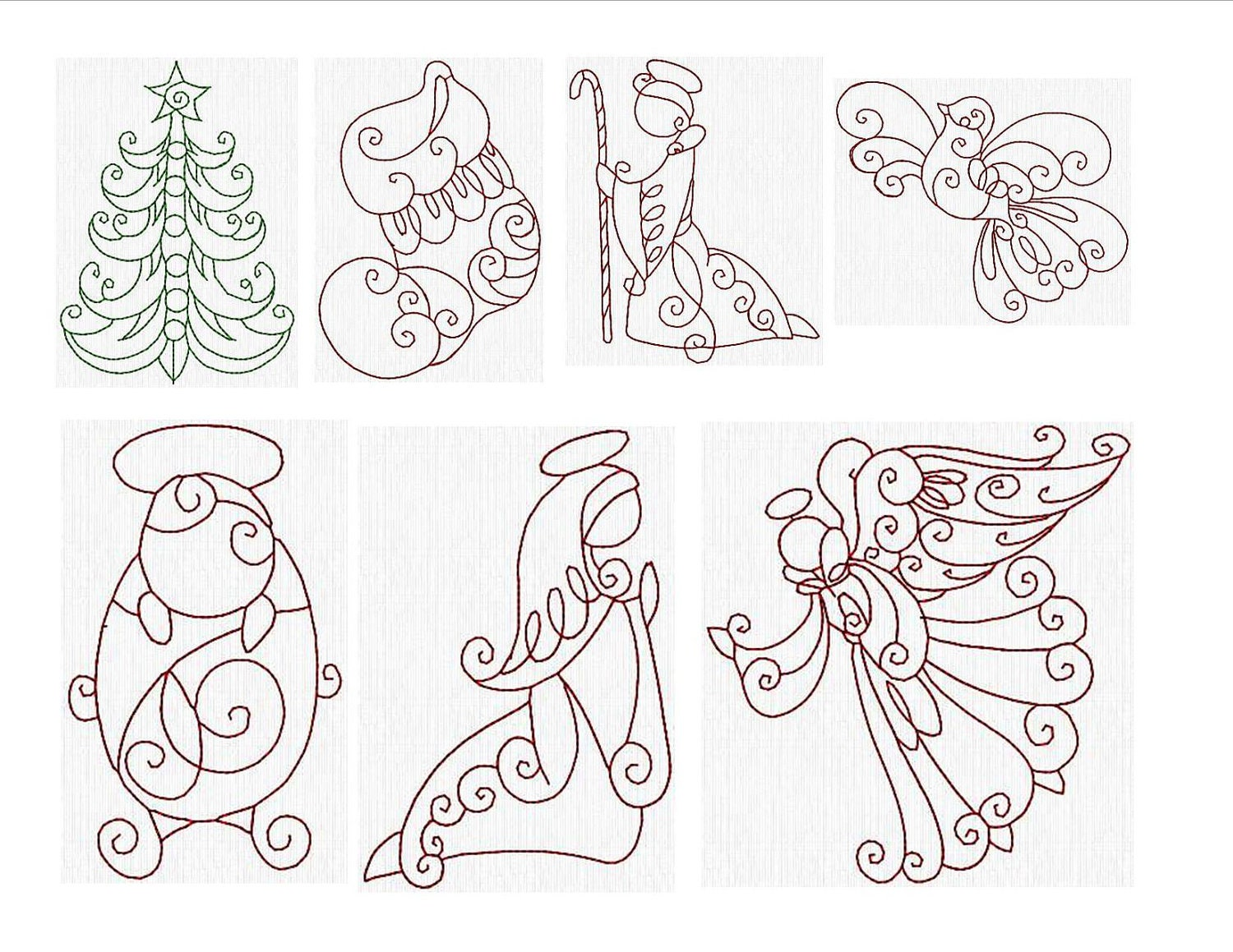 Instant download machine embroidery designs by janettesdesigns