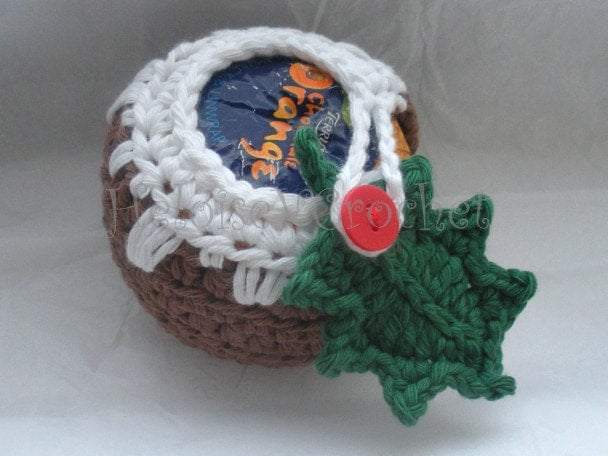Knitting Pattern For Christmas Pudding To Cover Chocolate Orange : Crochet Pattern Christmas pudding Apple or by HeloiseVCrochet