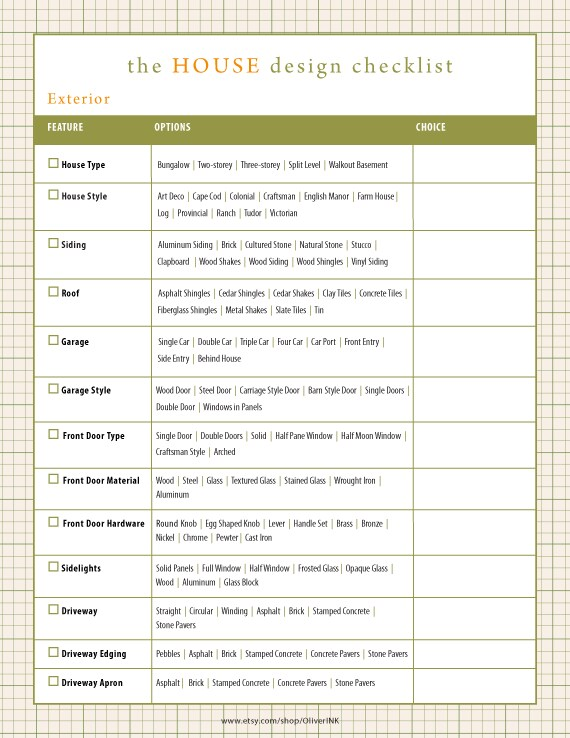 remodeling checklist template