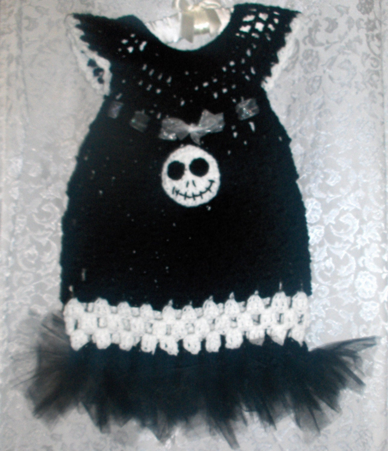 Handmade Crochet Dress Jack Skellington with tutu by NattyHatty