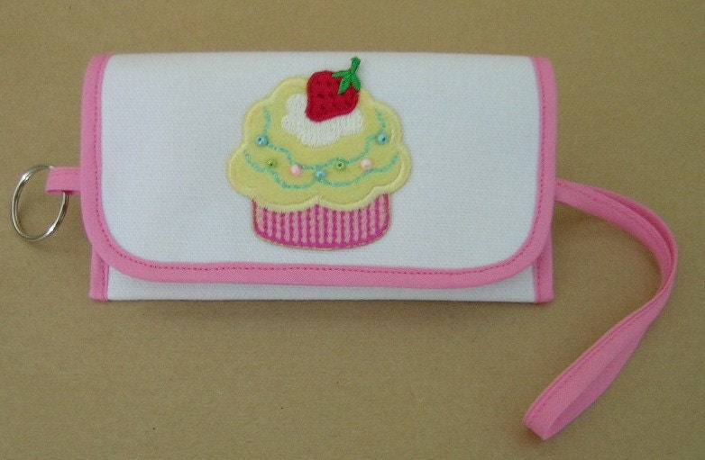 Ladies business or credit card wristlet