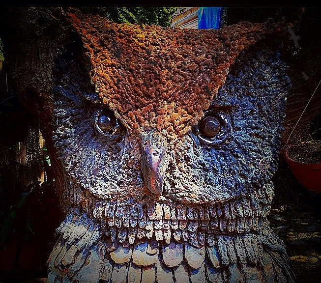 Metal sculpture of Great horned owl - two different owls - MartisMetalCreations