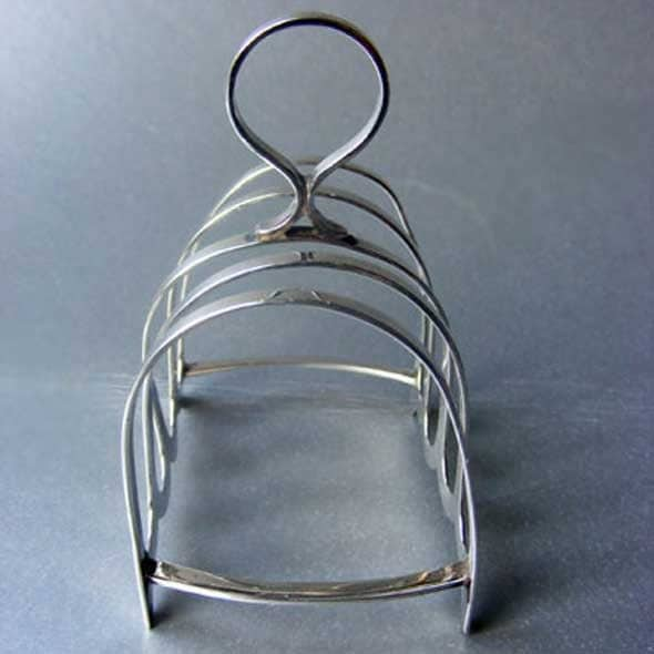 ART DECO Sterling Silver Toast Rack made by Cooper Brothers & Sons, Sheffield 1931