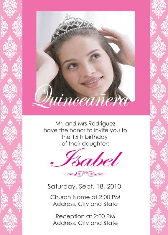 Quinceanera Invitations Spanish is nice invitation layout