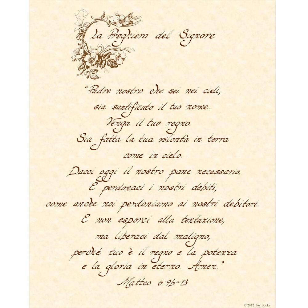 Items similar to la preghiera del signore matteo 6 9b 13 - Stampabile la preghiera del signore ...