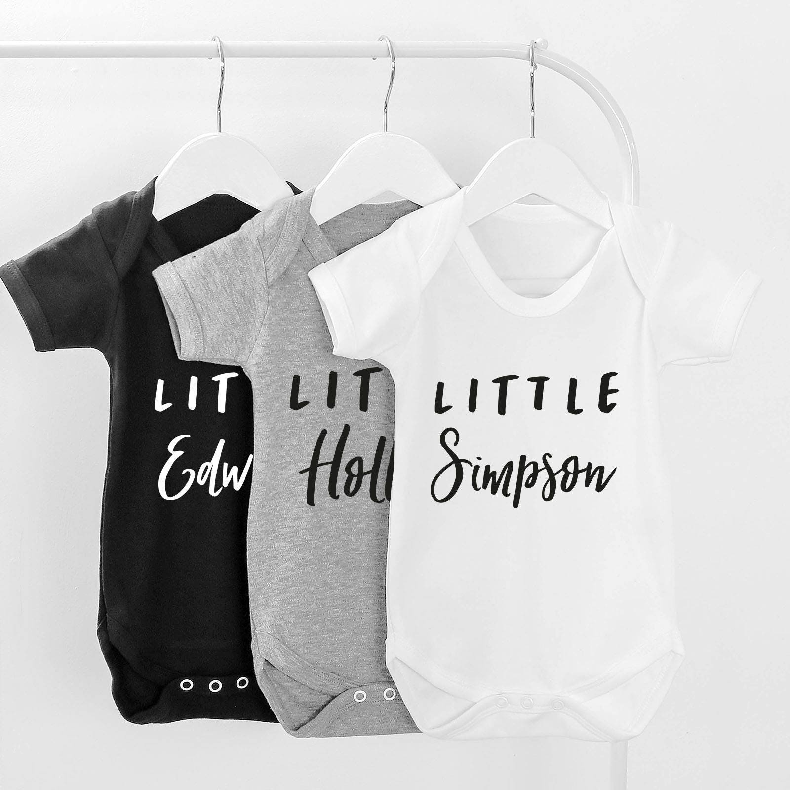 Personalised Little Baby Grow Personalised Baby Gift Baby shower Gift Baby Clothes New Baby Gift Baby Clothing Baby Bodysuit