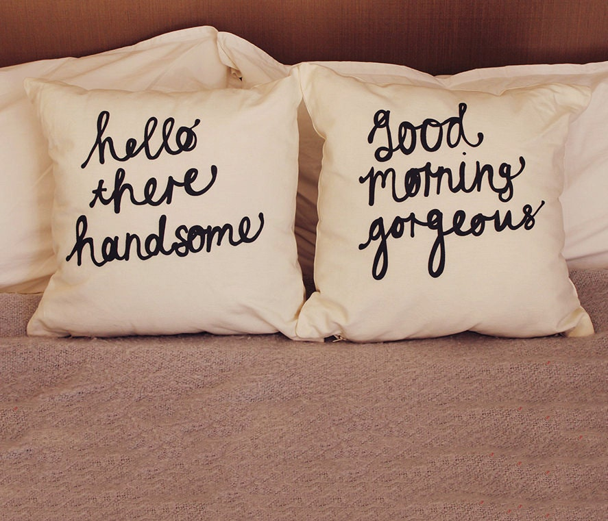 his and hers pillow covers