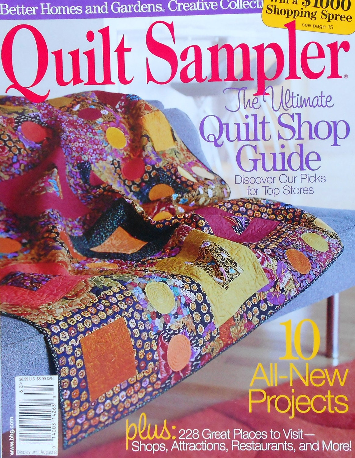Better Homes And Gardens Quilting Magazine Quilt Sampler