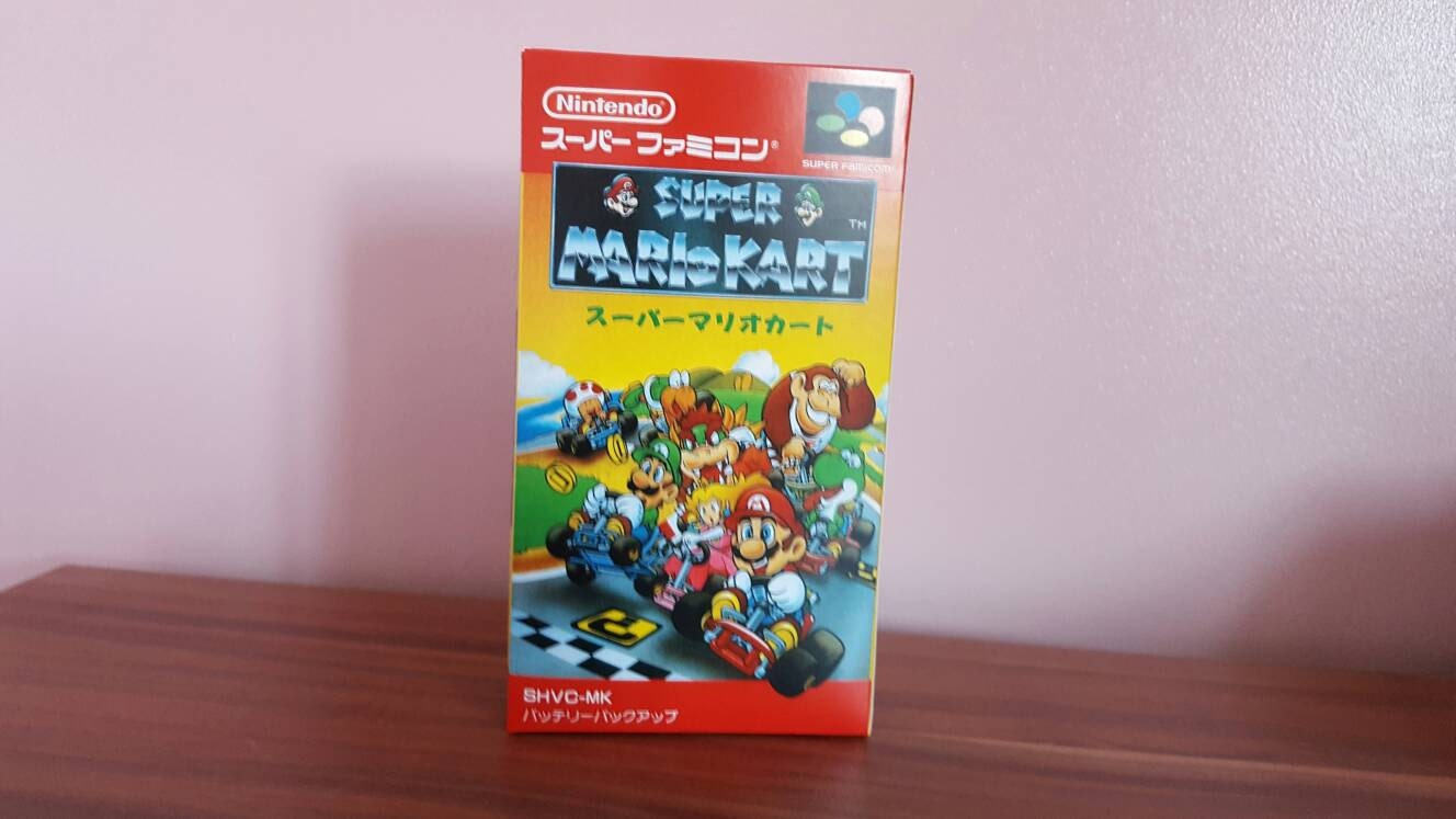 Super Famicom Super Mario Kart  Repo Box NO Game Included