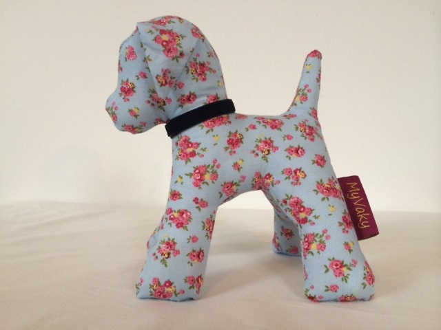 Cath Kidston fabric stuffed animal  dog toy  gift car  home decor