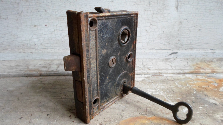 Antique Door Lock For Skeleton Key Victorian By Allvintageman