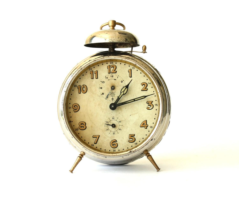 Antique German alarm clock Junghans by ClockworkUniverse ...