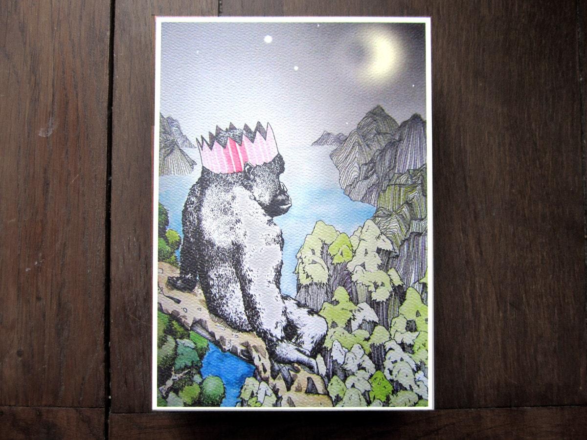 Gorilla's Birthday  -  A5 Print
