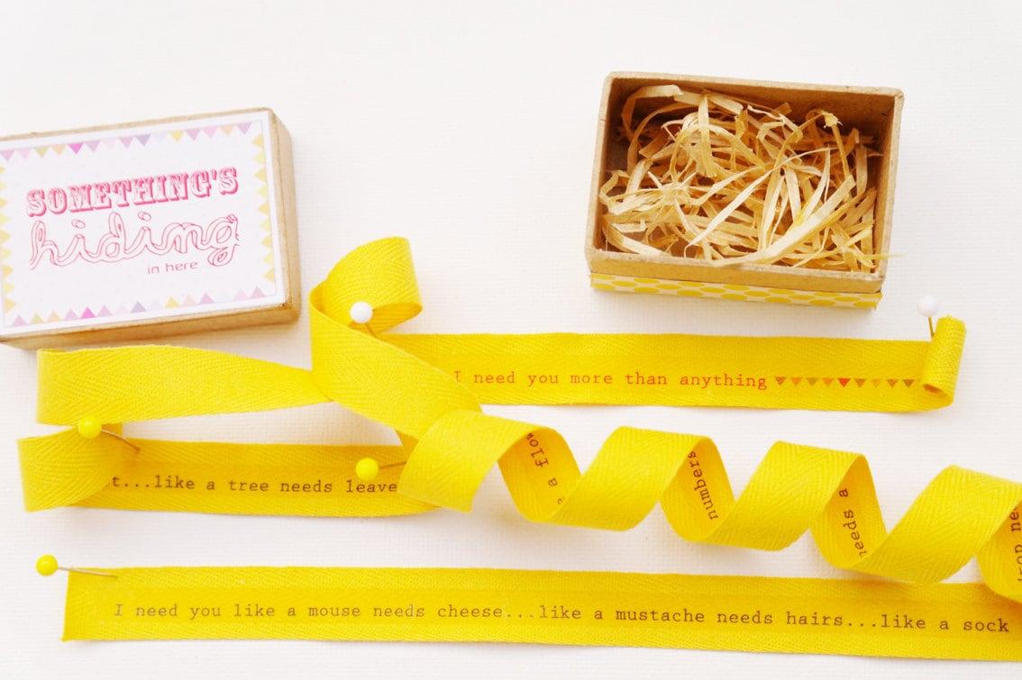 Need U ribbon message box