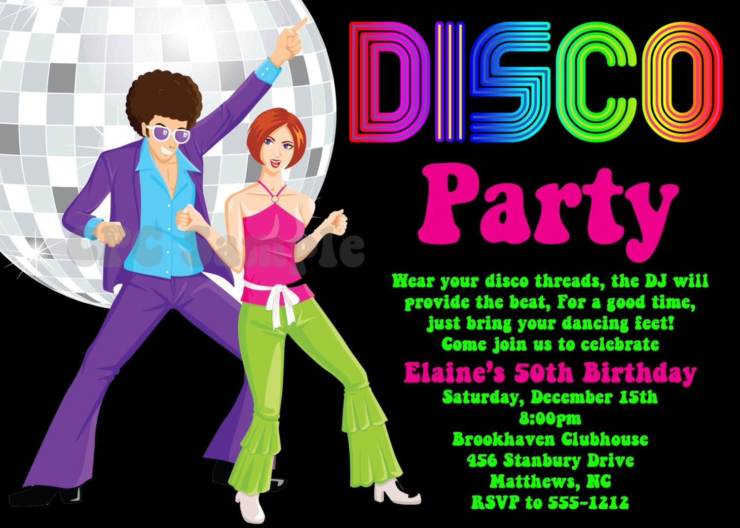 70S Party Invitation Wording as good invitations template