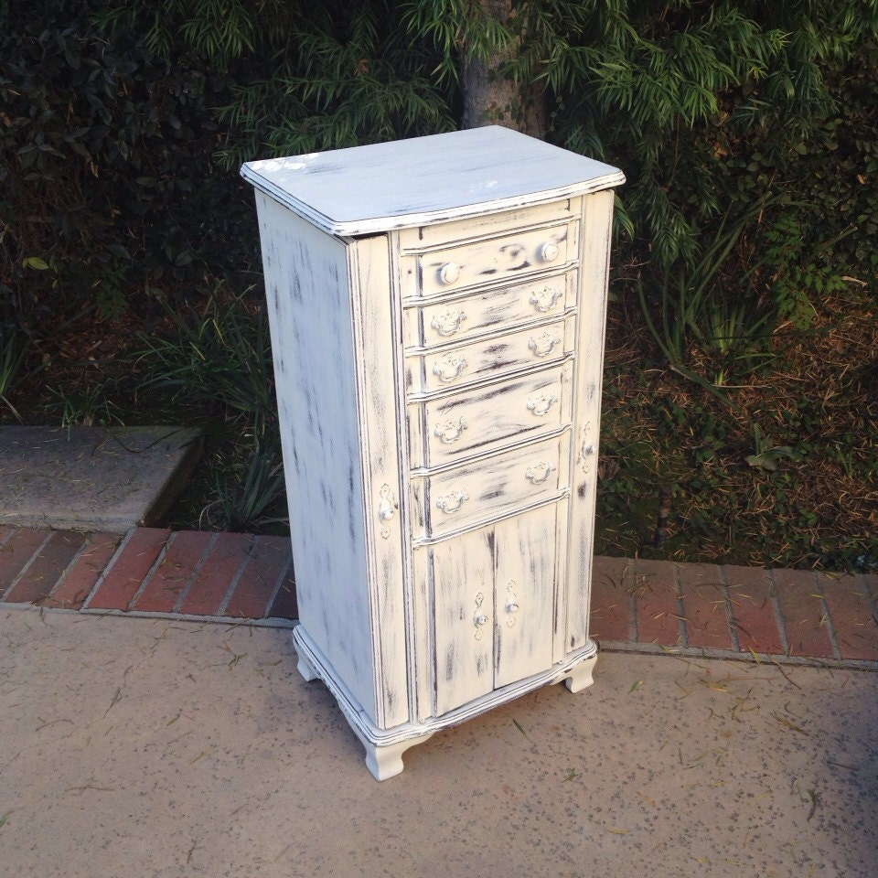special listing for deanalarge white jewelry box by