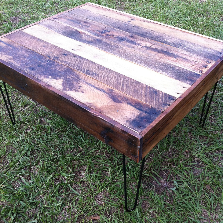Reclaimed Wood Coffee Table Legs: Items Similar To Reclaimed Barnwood Wood Coffee Table With