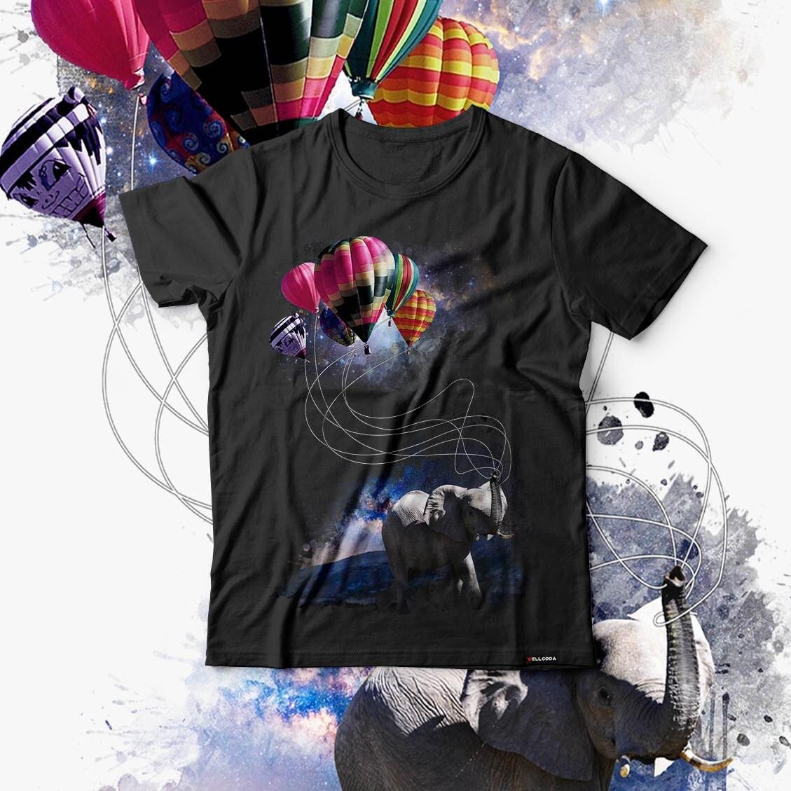 Dreaming Elephant Animal Dream Men Black Tshirt S5XL NEW  Wellcoda