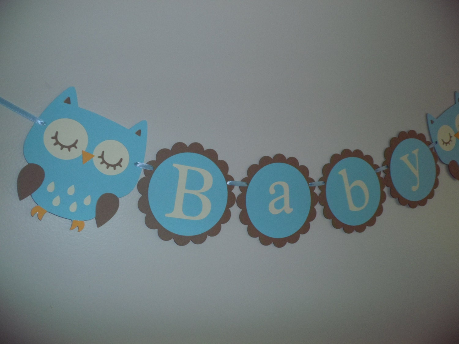 Items similar to baby shower banner baby owl themed for Baby owl decoration