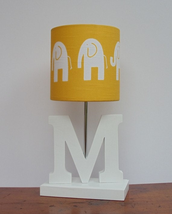 white elephant drum lamp shade great for nursery or baby 39 s room. Black Bedroom Furniture Sets. Home Design Ideas