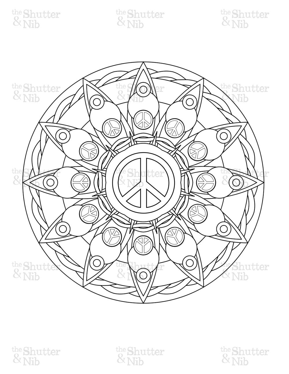 Kids Coloring Pages Peace Sign Freecoloring4u Com Peace Mandala Coloring Pages