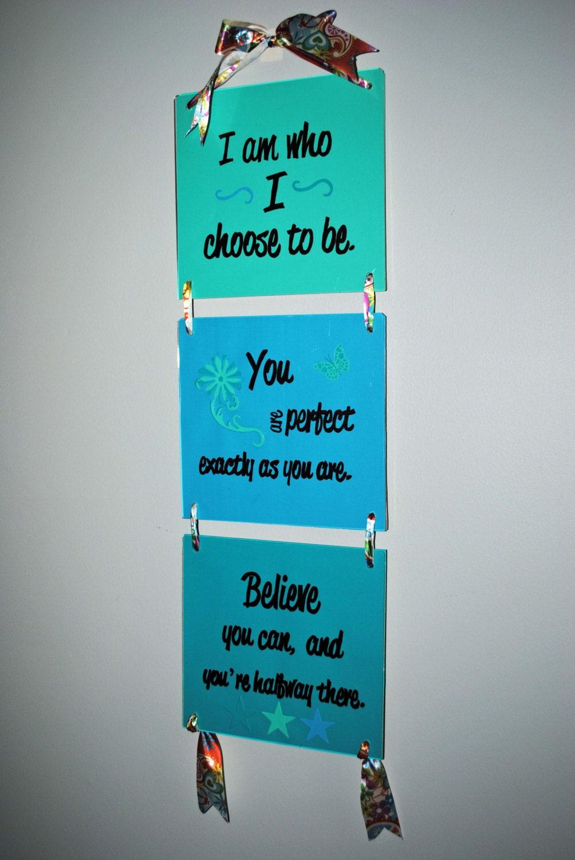 Affirming Wall Hanging Wall Art Teen Tween Girl Woman Home Decor - BridgetsCollection