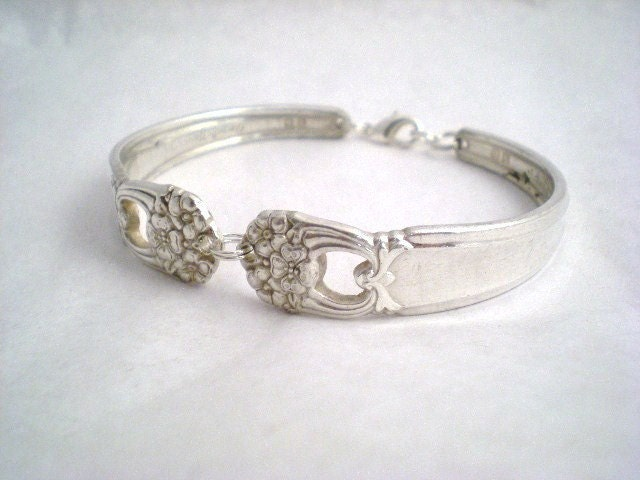 Spoon Bracelet Vintage Silverware Jewelry Silver - ETERNALLY YOURS 1941